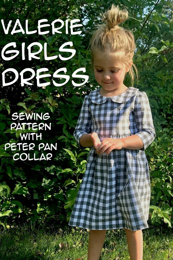 Valerie Girls Dress sewing pattern with Peter Pan collar