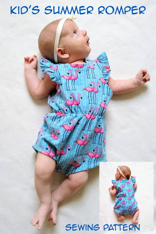 Kid's Summer Romper sewing pattern