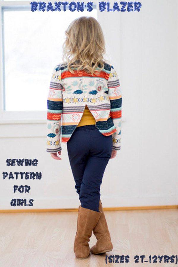 Braxton's Blazer sewing pattern for girls (sizes 2T-12yrs)