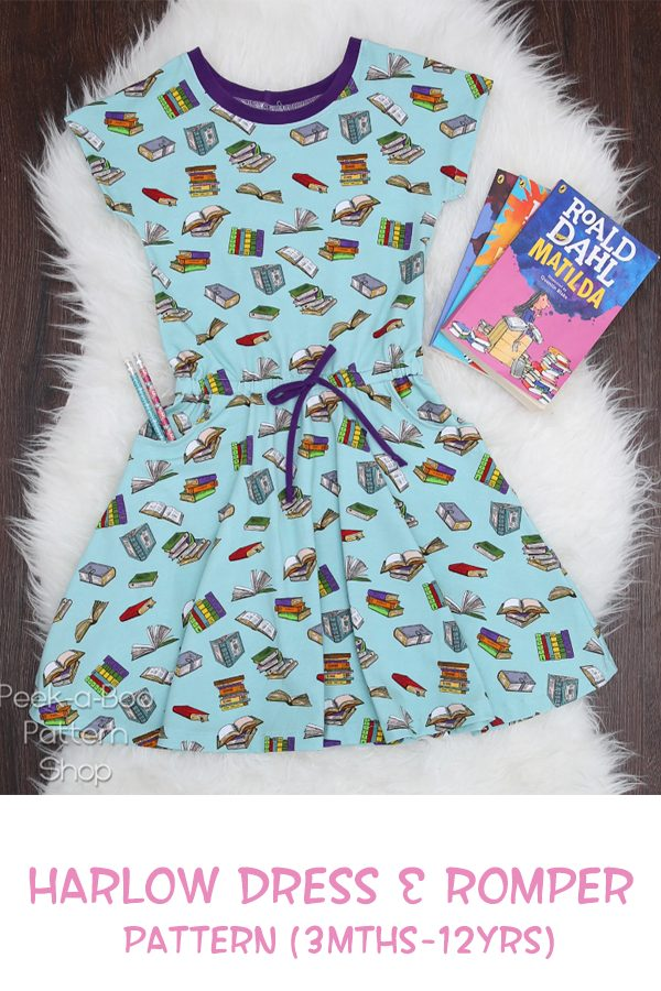 Harlow Dress & Romper pattern (3mths-12yrs)