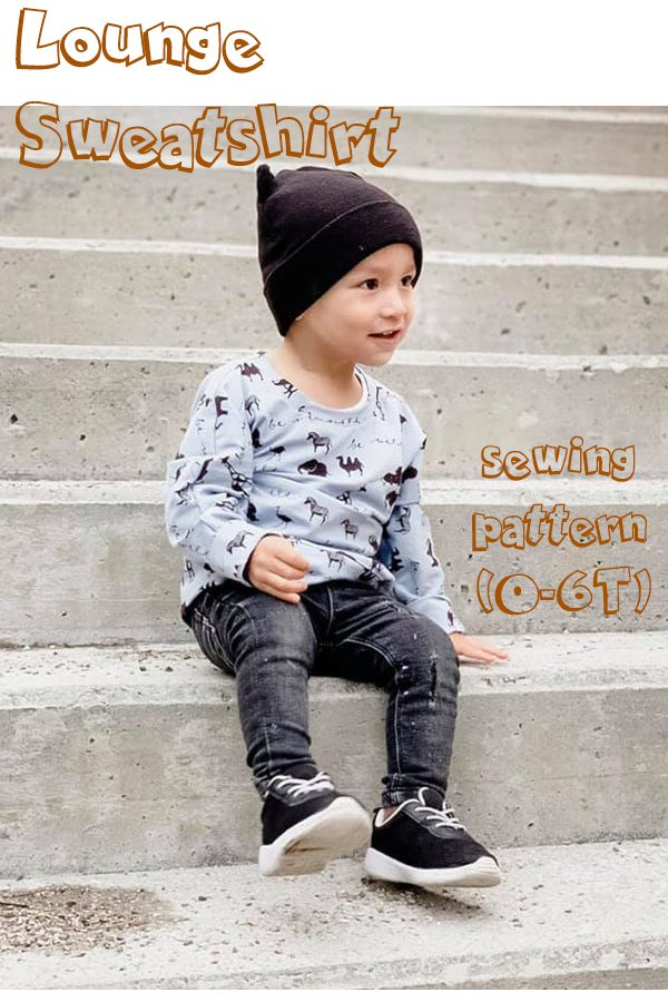 Lounge Sweatshirt sewing pattern (0-6T)