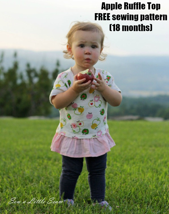 Apple Ruffle Top FREE sewing pattern (18 months)