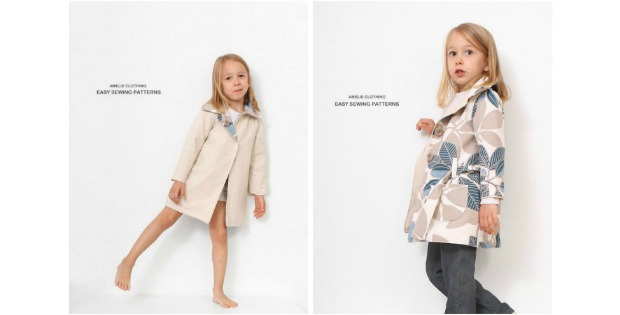 Autumn Girls Reversible Coat sewing pattern (2T to 7 years)