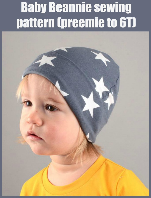Baby Beannie sewing pattern (preemie to 6T)