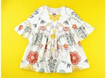 Bell Sleeve Dress sewing pattern (0-6 years)