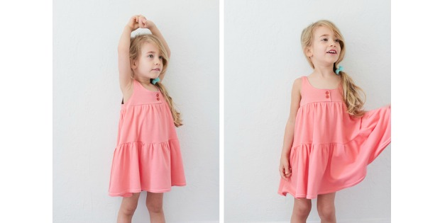 Comfy Knit Dress FREE tutorial + pattern (size 2T-3T)