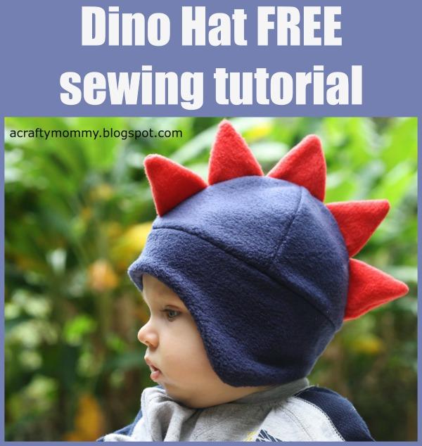 Dino Hat FREE sewing tutorial