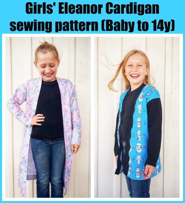 Girls' Eleanor Cardigan sewing pattern (Baby to 14y)