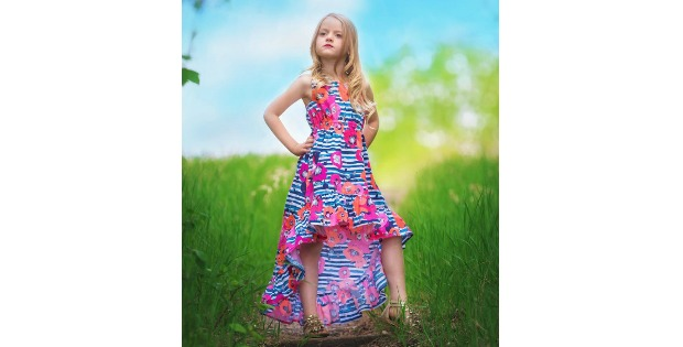 Harmony's Top, Dress, High Low & Maxi sewing pattern (sizes 2T-12)