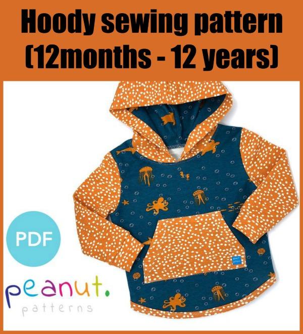Hoody sewing pattern (12m-12y)