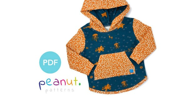 Hoody sewing pattern (12m-12y)