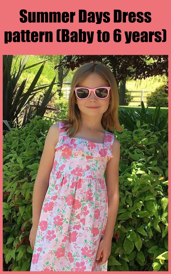 Summer Days Dress sewing pattern (Baby to 6 years)