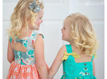 Saylor's Square Bow Back Top & Dress pattern (2T-12)