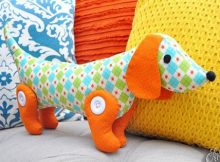 Little Doggy Dachshund toy sewing pattern
