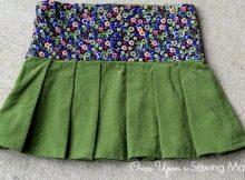 Miriam Pleated Skirt sewing pattern (12m-8y)