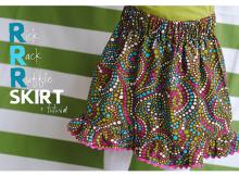 Rick Rack Ruffle Skirt FREE sewing tutorial (2T-3T)