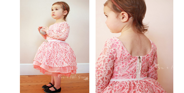 Birthday Dress & Peplum FREE sewing pattern (Size 2)