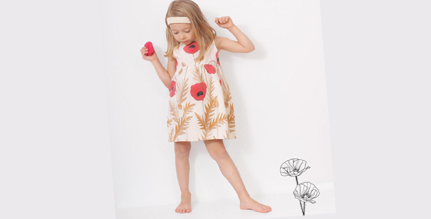 Poppy Dress sewing pattern (3-8yrs)