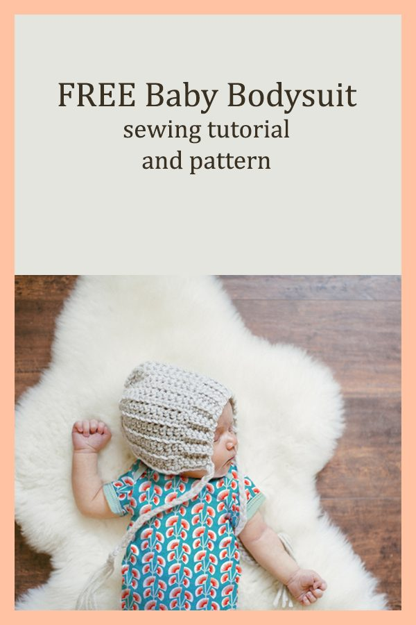FREE Baby Bodysuit sewing tutorial and pattern (3 sizes)