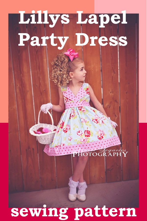 Lillys Lapel Party Dress sewing pattern (2T-12)