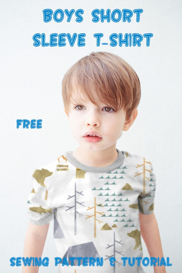 FREE Boys Short Sleeve T-Shirt sewing pattern & tutorial (size 4 years)