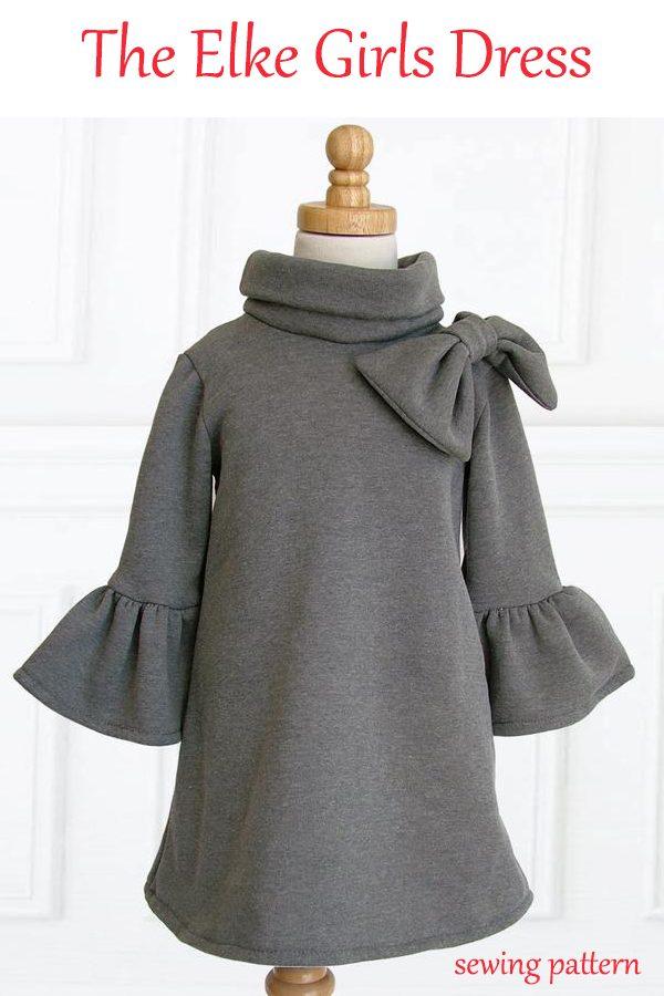 The Elke Girls Dress sewing pattern (1-10)