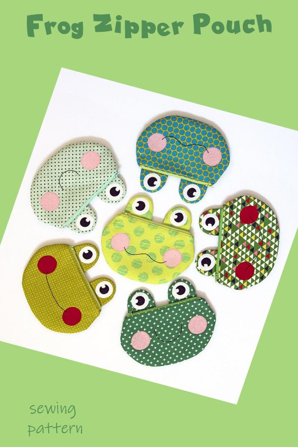Frog Zipper Pouch sewing pattern