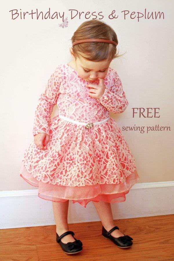 Birthday Dress & Peplum FREE sewing pattern (Size 2)