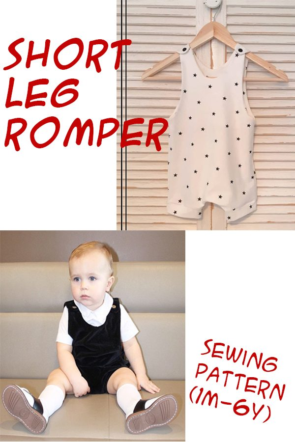Short Leg Romper sewing pattern (1m-6y)