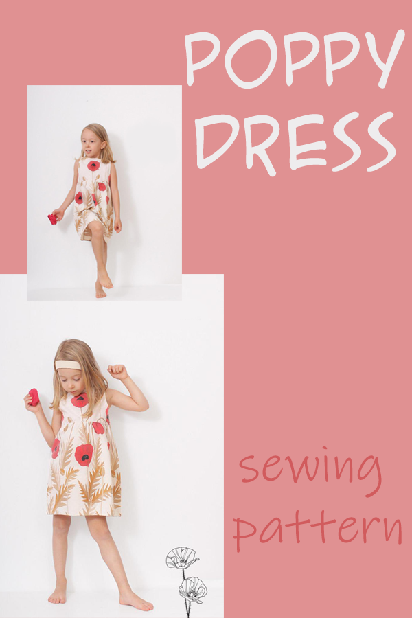 Poppy Dress sewing pattern (3-8yrs)
