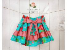 Elsa Ruffle Skirt sewing pattern (12m-12y)