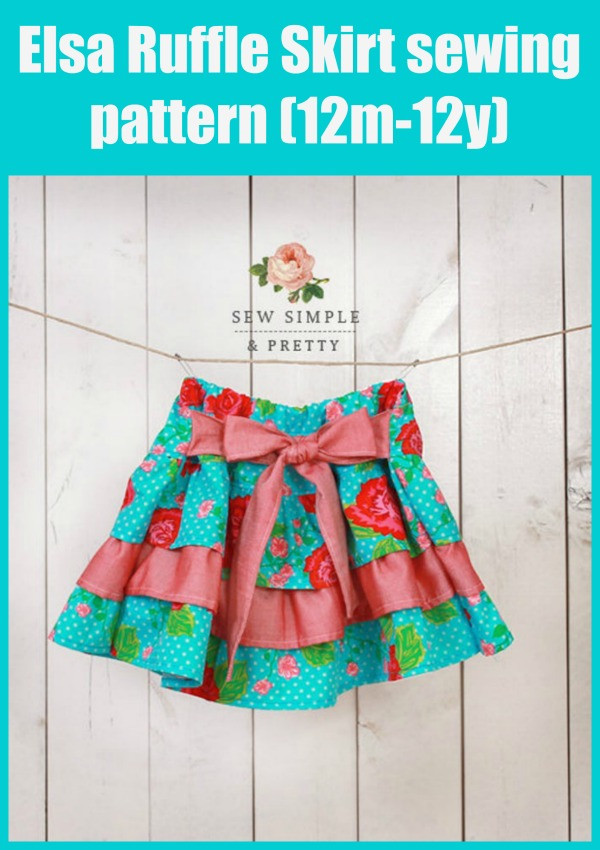 Elsa Ruffle Skirt sewing pattern (12m-12y)