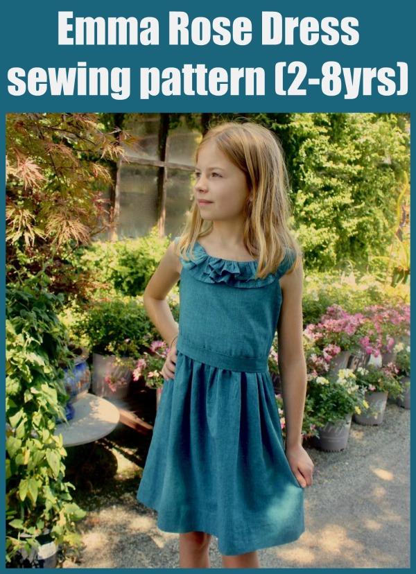 Emma Rose Dress sewing pattern (2-8yrs)