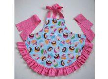 Girl's Ruffled Apron FREE sewing pattern