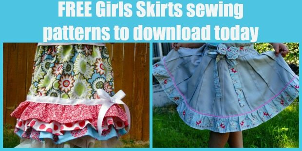FREE Girls Skirts sewing patterns to download today