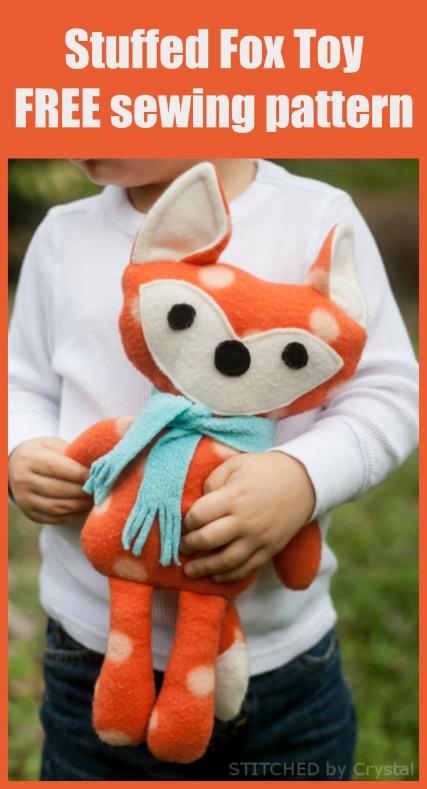 Stuffed Fox Toy FREE sewing pattern