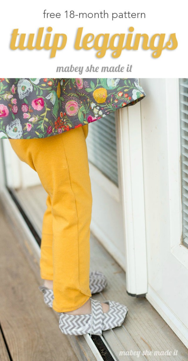 Tulip Leggings FREE sewing pattern