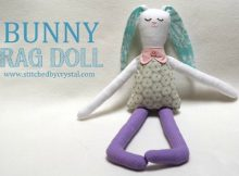 Bunny Rag Doll FREE sewing pattern