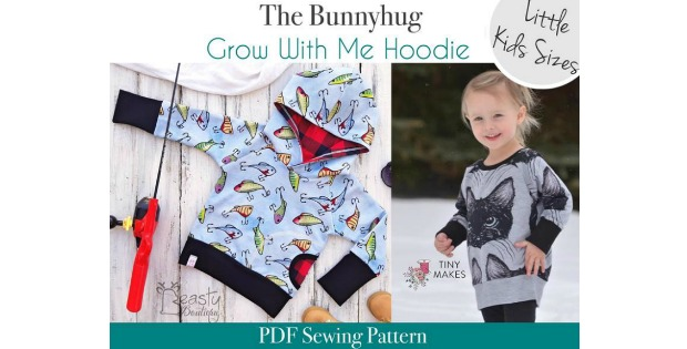 Bunnyhug Grow With Me Hoodie sewing pattern
