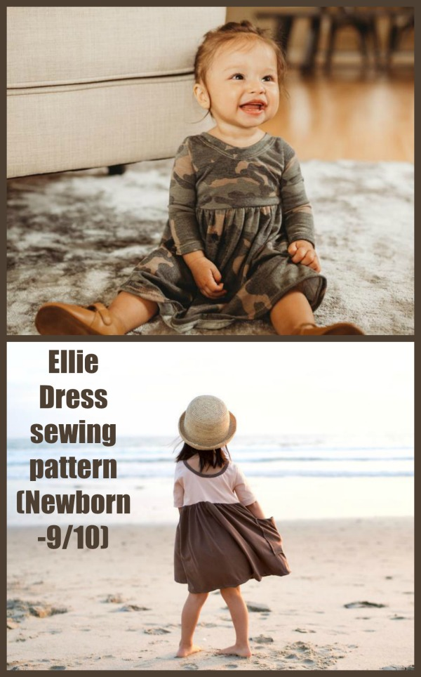 Ellie Dress sewing pattern (Newborn-9/10)