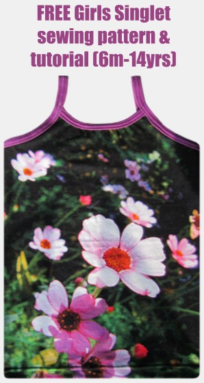 FREE Girls Singlet sewing pattern & tutorial (6m-14yrs)
