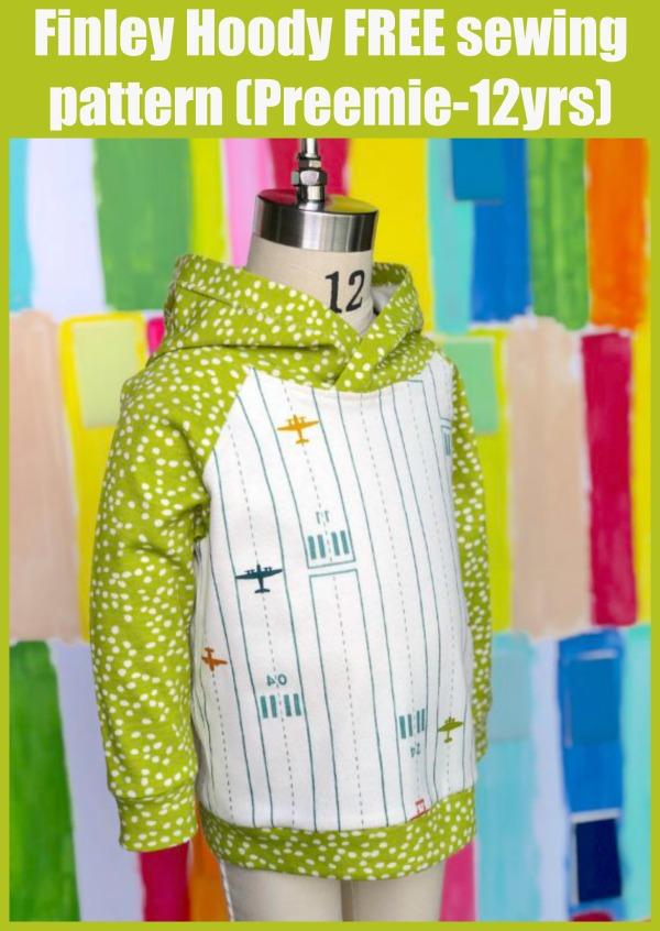 Finley Hoody FREE sewing pattern (Preemie-12yrs)