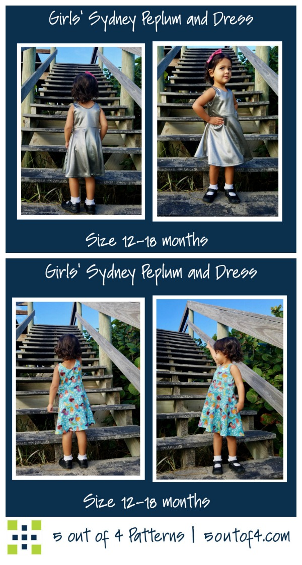 Girls Sydney Peplum and Dress sewing pattern (0-3mths to 14yrs)