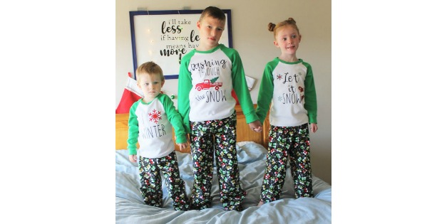 Happy Holiday Pajama Top & Pants sewing pattern (12mths-12yrs)