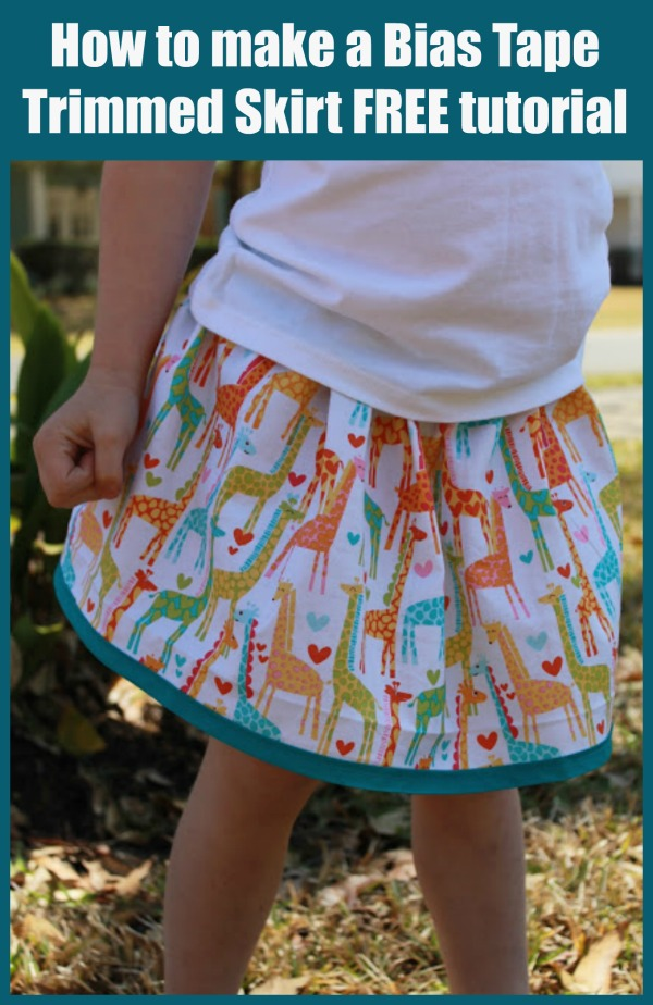 How to make a Bias Tape Trimmed Skirt FREE tutorial