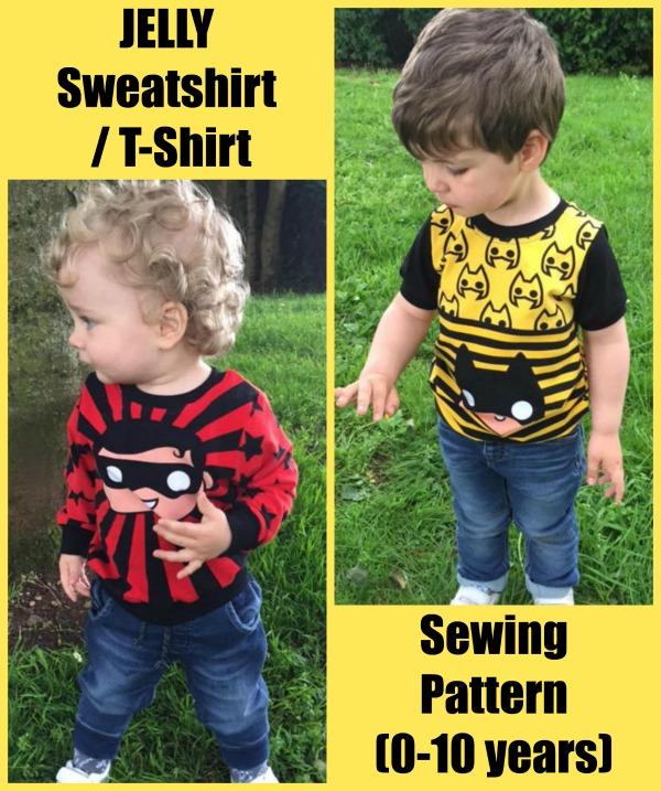 JELLY Sweatshirt / T-Shirt sewing pattern (0-10 years)