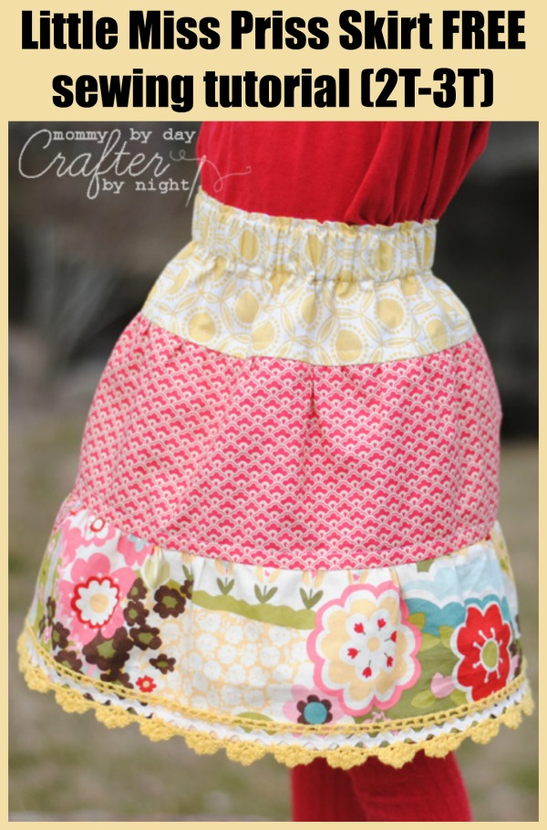 Little Miss Priss Skirt FREE sewing tutorial (2T-3T)
