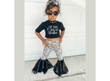 Persea's Bell Bottom Leggings sewing pattern (Newborn-14yrs)