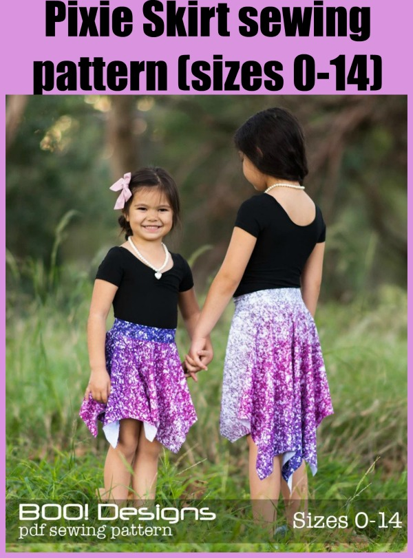 Pixie Skirt sewing pattern (sizes 0-14)