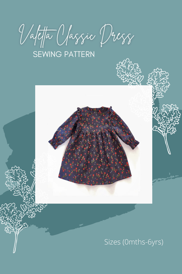 Valetta Classic Dress sewing pattern (0mths-6yrs)